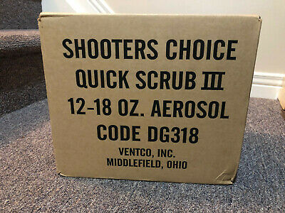 Case of x12 Shooters Choice Quick-Scrub III Gun Cleaner 18oz Spray Can