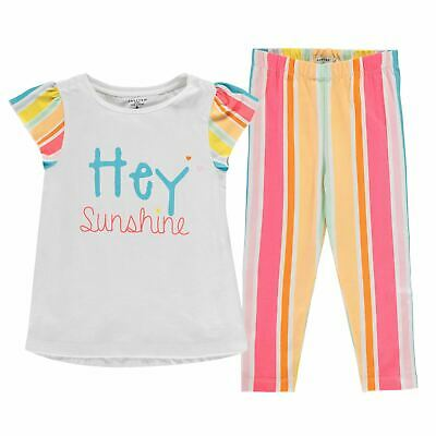 Crafted T Shirt and Leggings Set Infants Girls Clothing Pants Trousers Bottoms