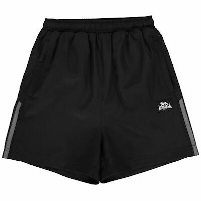 Lonsdale Woven Shorts Youngster Boys Pants Trousers Bottoms Zip Mesh Drawstring