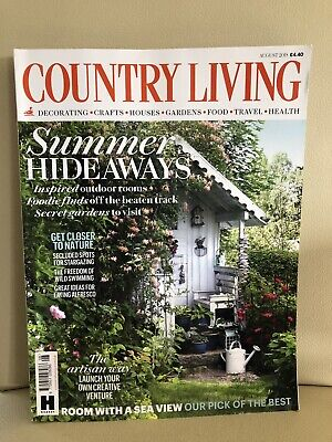 Country Living house/home/lifestyle/interiors magazine, August 2018