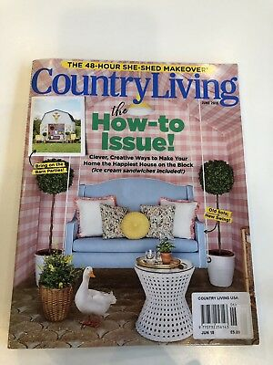 US/USA Country Living home/house/lifestyle/interiors magazine, June 2018