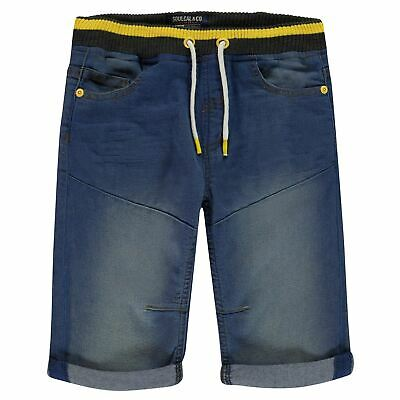 SoulCal Pop Shorts Youngster Boys Denim Pants Trousers Bottoms Drawstring