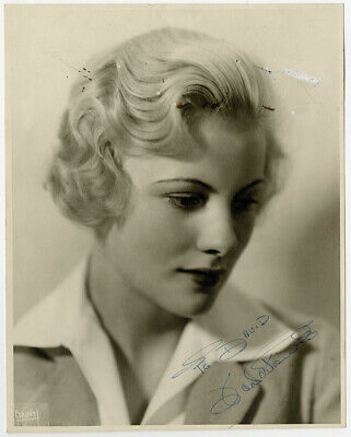Joan Fontaine Hand Signed Autographed Portrait Photograph Vintage Early Career