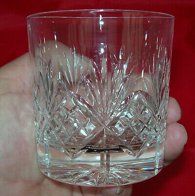 Edinburgh Crystal Old Fashioned Embassy Whisky Glasses Tumblers Pair Free P&P