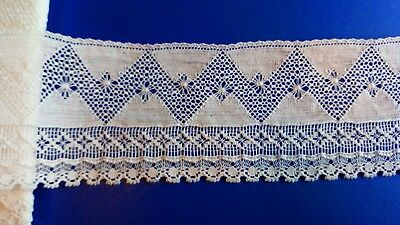 Antique Cluny Cotton Lace Dress Fabric Edging Underwear Trim Lingerie Peticoat