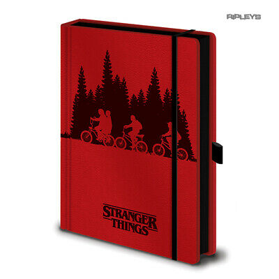 Official STRANGER THINGS A5 Notebook Journal Red UPSIDE DOWN Stationery Gift
