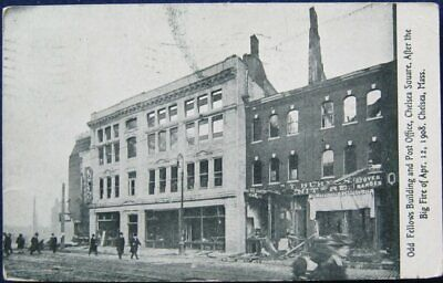 Odd Fellows Building & PO Chelsea Square After The Fire 1908