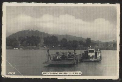 Postcard NEW MARTINSVILLE  Early 1900's Local Area Car Service Ferry 1930's