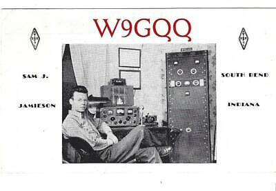 QSL 1947 South Bend IN photo    radio  card