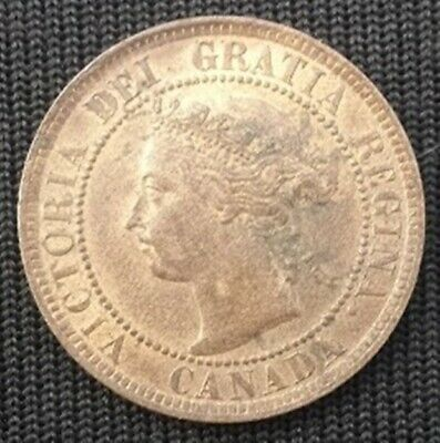 Canada One Cent 1893 Queen Victoria  Au, Lustre ,Nice Coin
