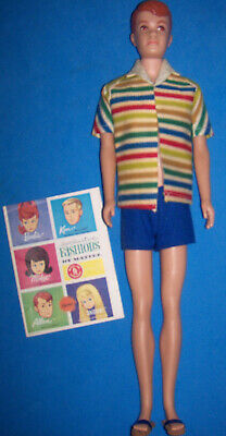 ALLAN DOLL 1964 ORIGINAL STRIPED TERRY /& BLUE SWIMSUIT REPRODUCTION/_New DeBoxed