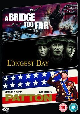 Longest Day The Bridge Too Far Patton Dvd New Region 2