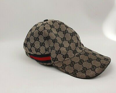 e5b358408 NEW GUCCI BEIGE/BRICK Red Original Gg Canvas Ny Yankees Patch ...