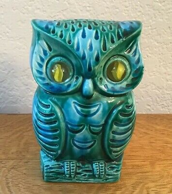 Vintage Inarco Owl Bank With Marble Eyes