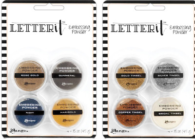 Ranger Letter It Embossing Powders - Metallics & Tinsels - 2 Packs, 8 Colours