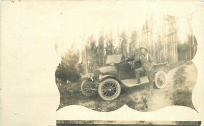 Auto Road Trip Oregon Washington Summit C-1915 RPPC Photo Postcard 5469