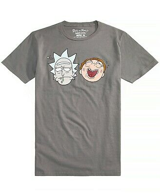 New World NEW Gray Mens Size Large L Graphic Tee Rick and Morty T-Shirt #203