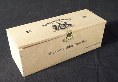 Thompson Slim Panatelas Mini Wood Cigar Box Recipe Of Ireland