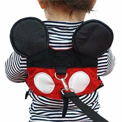 Mickey Mouse Toddler Safety Harness w Leash Child 1-3 Years Mall Theme Parks NEW