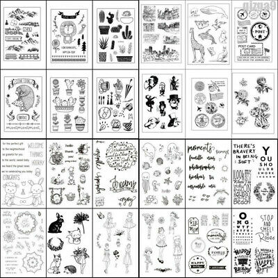 Transparent Clear Silicone Rubber DIY Stamp Cling Diary Scrapbooking Card Decors