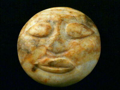 Good Quality Chinese Old White Jade *HongShan Culture Mask* Pendant Q115