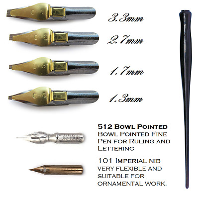 Speedball Calligraphy Pen with 6 Nibs for Roman Capitals, Foundational & Italics