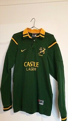 South Africa Rugby Jersey - Castle Lager Sponsor - Nike - Size M