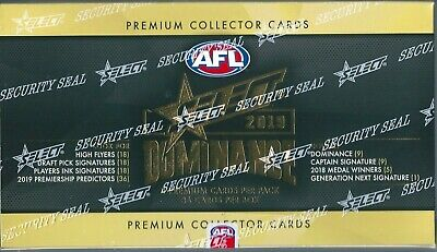 2019 afl select dominance factory sealed box 36 packets per box pre-order item