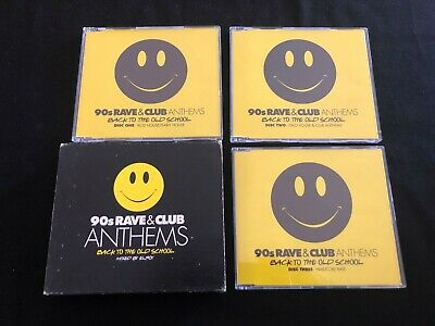 90s RAVE & CLUB ANTHEMS BACK TO THE OLD SCHOOL AUSTRALIAN RELEASE 3 x CD