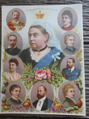 C 1880 's Unframed chromolithograph Queen Victoria Prince of Wales Edinburgh