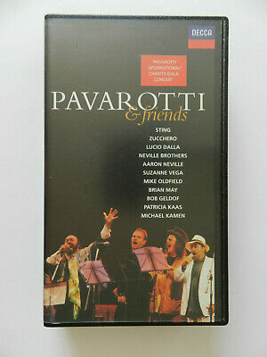 VHS Video Kassette Pavarotti & friends Sting Zucchero Lucio Dalla