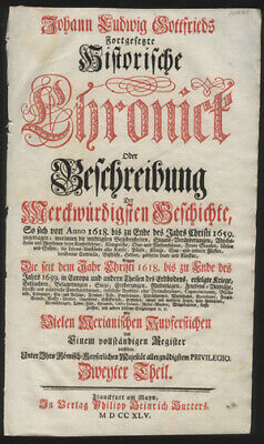 Title Page to J. L. Gottfried's HIstory of German People Biblical & Mythical