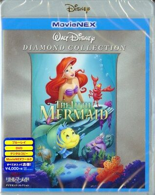DISNEY-THE LITTLE MERMAID DIAMOND COLLECTION MOVIENEX-JAPAN Blu-ray+DVD J50