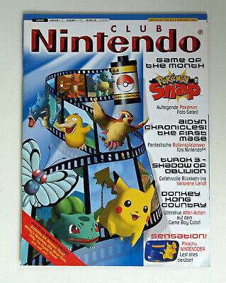 Club Nintendo Heft 4/00 August 2000 - Pokemon Snap / Pikachu U.a. - Inkl. Poster