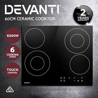 Devanti Electric Ceramic Cooktop 30cm Kitchen Cooker Cook Top Hob Touch Control