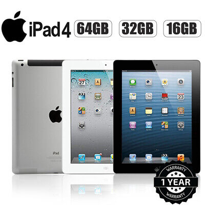 Apple iPad 4 -16/32/64GB - WiFi or 3G - 9.7in - Black /White - Various Grades