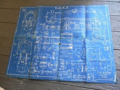 C 1930 NSWR New South Wales Railway Locomotive O.B Bolton Blueprint train
