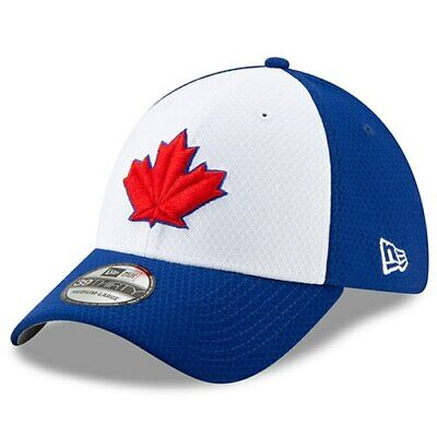 low priced 7f403 e4977 New Era Toronto Blue Jays White Royal 2019 Batting Practice 39THIRTY Flex  Hat
