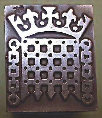 """The """"House Of Commons Seal"""" Printing Block."""