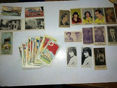 64 Vintage 20s Recruit Little Cigars Tobacco Cards Flags,Vice Regal,Dempsey