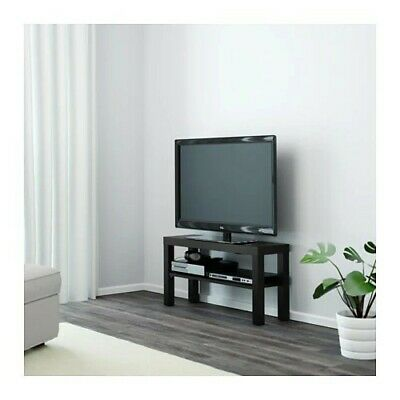 size 40 a2a54 3dc67 WOODEN TV BENCH Table Entertainment Unit Stand Black BRAND NEW
