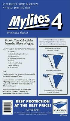 "Mylites 4 ""Protective Sleeves"" Pack Of 50 Current Comic Size (E. Gerber)"