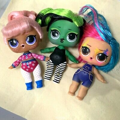 Lot 3X Lol surprise doll Series 5 Hairgoals BHADDIE SNOW BUNNY color change toys