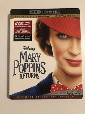 Mary Poppins Returns 4K Ultra HD + Blu-Ray + Slipcover Collector's Ed