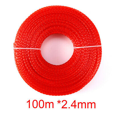 Red Brushcutter Trimmer Strimmer Nylon Cord Line Wire String Rope 2.4mm X 100m