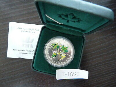 Canada  2003 5 Dollar  Maple Leaf .9999 Silver Coloured Coin  T1692
