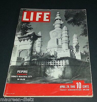 April 29, 1946 LIFE Magazine PEIPING Ads, 40s advertising ads ad FREE SHIPPING 4