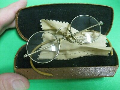 Antique ESTATE Gold Filled Frame Eyeglass STEEL Case AO ARTCRAFT FUL 1/10 12K GF