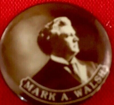 POLITICAL LOCAL BUTTON PinBack MARK WALSH Pin IOWA Campaign Badge Advertising