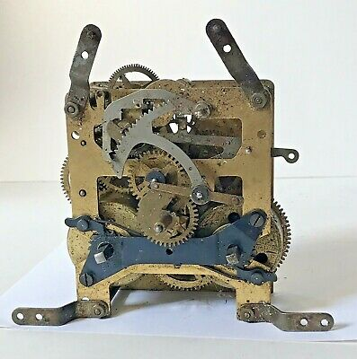 Antique Haller Clock Movement Chiming Untested Spares / Repairs / Parts